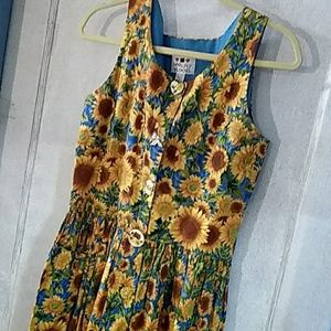 Worldly Designs Sunflower Dress Size XS
